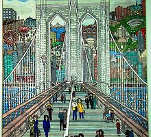 Brooklyn Bridge by Dorothy Goldstein