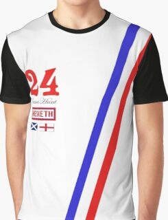 Hesketh Racing James Hunt 24 formula 1 Graphic T-Shirt