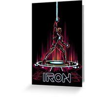 IRON-TRON Greeting Card
