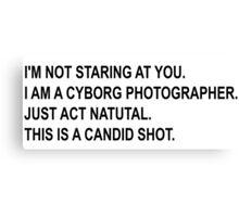 Cyborg Photographe - Rick and Morty Canvas Print