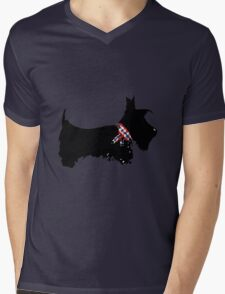 Scottie Dog Mens V-Neck T-Shirt