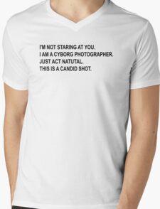 Cyborg Photographe - Rick and Morty Mens V-Neck T-Shirt