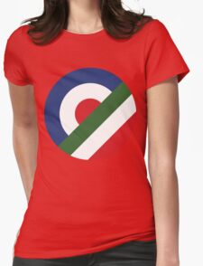 Colors of mod Womens Fitted T-Shirt