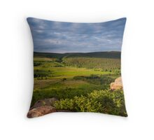 Barden Moor From Rough Haw, Yorkshire Dales Throw Pillow