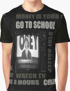 THEY LIVE subliminal messaging Graphic T-Shirt