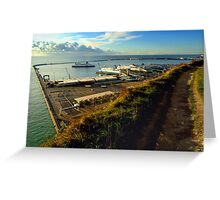 Dover Docks from the White Cliffs Greeting Card