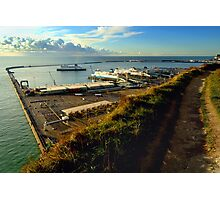 Dover Docks from the White Cliffs Photographic Print