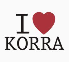 I <3 KORRA by SpazzyFanGirl