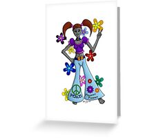 Alien-Ation Hippy Chick Greeting Card
