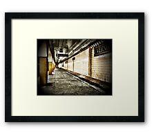 NYC Subway - Long Island City Framed Print