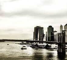 Brooklyn Bridge from Manhattan Bridge by ARPunk