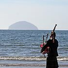 Piper at Ailsa Craig by Togfather