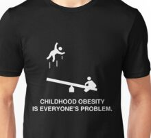 Childhood Obesity Dark Unisex T-Shirt