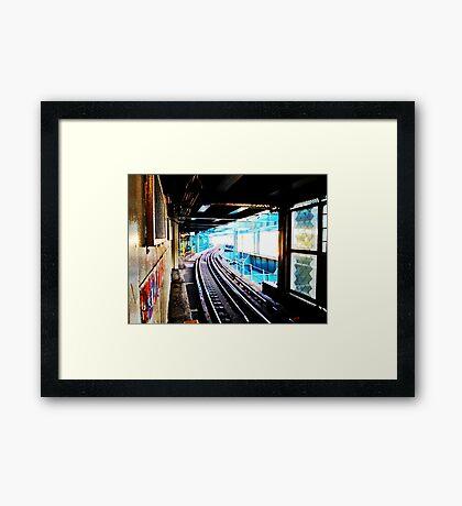 Queensboro Plaza Subway Framed Print