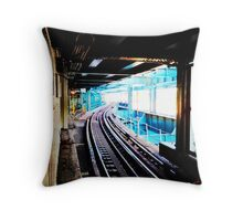 Queensboro Plaza Subway Throw Pillow