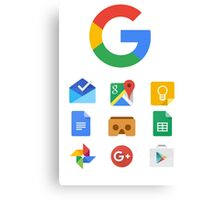 Google products Canvas Print