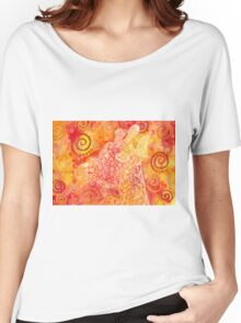 Giraffe abstract watercolor Women's Relaxed Fit T-Shirt
