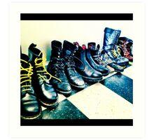 Plenty o' Boots Art Print