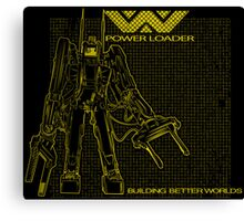Powerloader Blueprint (yellow) Canvas Print