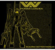 Powerloader Blueprint (yellow) Photographic Print