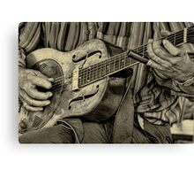 """ The Guitar Man "" Canvas Print"