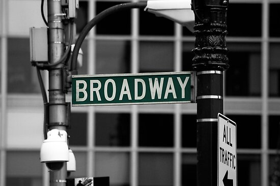 Broadway sign New York by Magdalena Warmuz-Dent