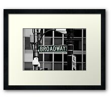 Broadway sign New York Framed Print