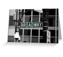 Broadway sign New York Greeting Card