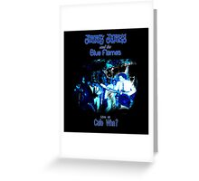Jimmy James and the Blue Flames Jimi Hendrix Greeting Card