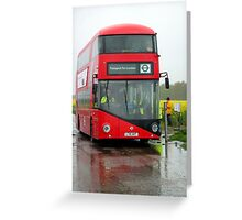 Bus RT1 Cobham bus rally Greeting Card
