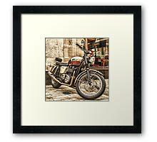 Triumph Bonneville T100 Framed Print