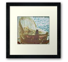 Bassinet with toys - vintage look Framed Print