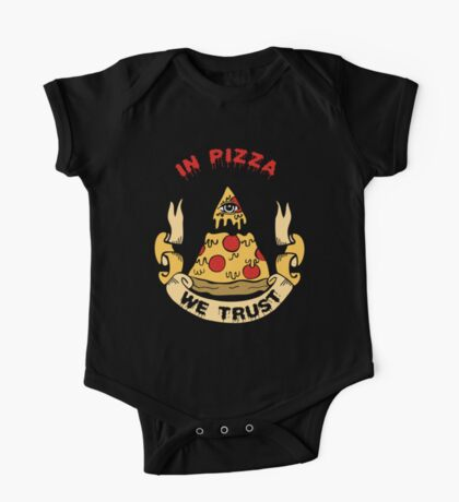 In Pizza We Trust One Piece - Short Sleeve