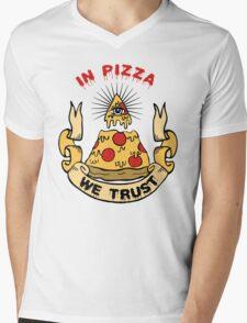 In Pizza We Trust Mens V-Neck T-Shirt