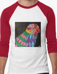 Abstract bird colorful design Men's Baseball ¾ T-Shirt
