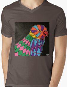 Abstract bird colorful design Mens V-Neck T-Shirt