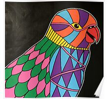 Abstract bird colorful design Poster