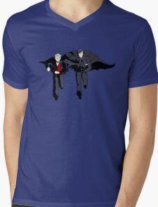 Hatman and Robin Mens V-Neck T-Shirt
