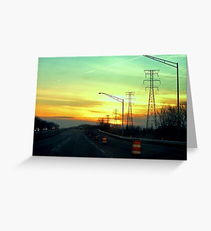 Interstate Going West Greeting Card