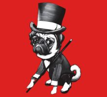 Pug Fred Astaire One Piece - Long Sleeve