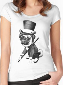 Pug Fred Astaire Women's Fitted Scoop T-Shirt