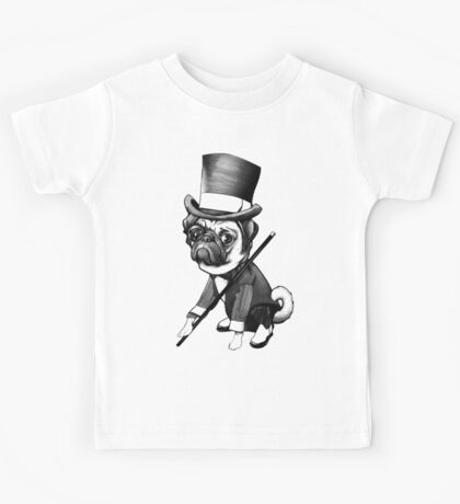 Pug Fred Astaire Kids Tee
