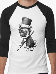 Pug Fred Astaire Men's Baseball ¾ T-Shirt