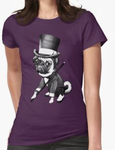Pug Fred Astaire Womens Fitted T-Shirt