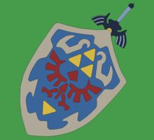 Hylian Shield and Master sword Kids Tee