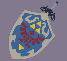 Hylian Shield and Master sword Kids Tee