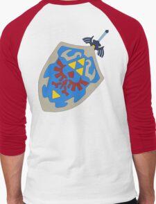 Hylian Shield and Master sword Men's Baseball ¾ T-Shirt