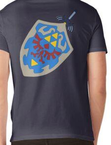Hylian Shield and Master sword Mens V-Neck T-Shirt