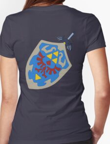Hylian Shield and Master sword Womens Fitted T-Shirt