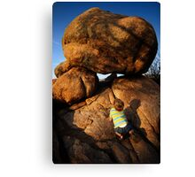 Rock Toddler Canvas Print